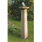SONGBIRD HOURDIAL AND COLUMN IN  A GARDEN