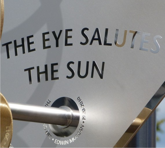 Sundial plate with literary quote