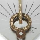Anniversary details engraved on sundial