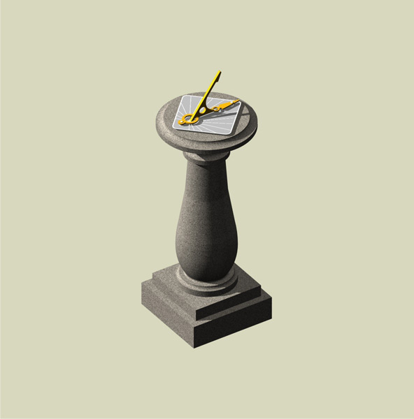 The BALUSTER pedestal with Hourdial