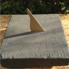 INSCRIBED SUNDIAL STONE 1777 DATE