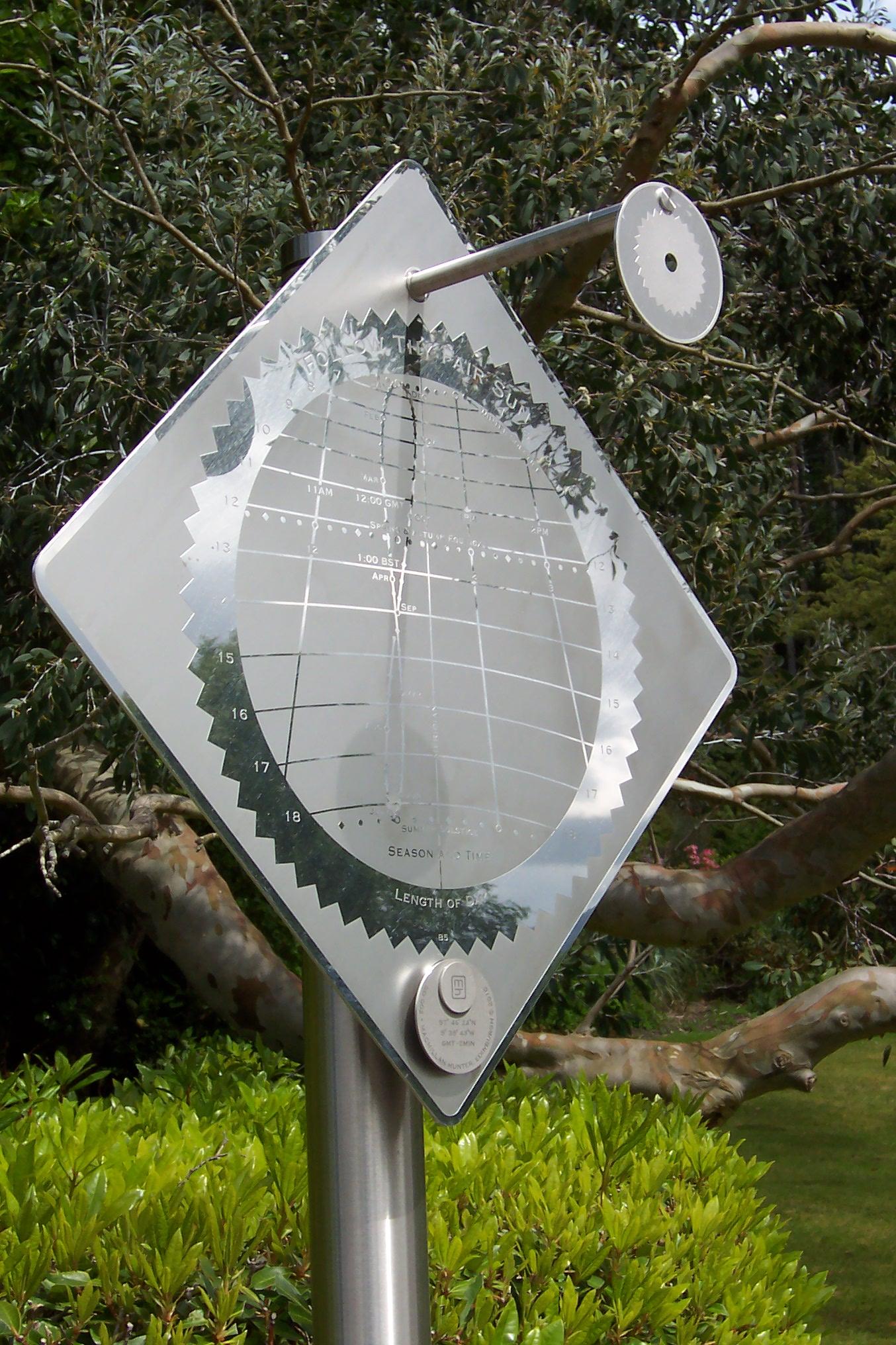 Sundial at Inverewe Garden, Scotland