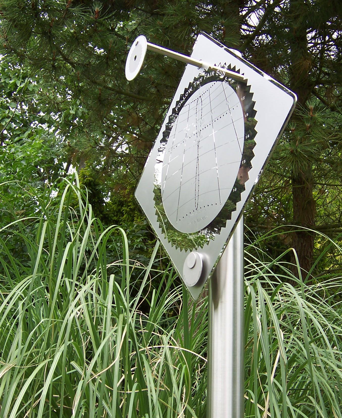 Sundial at Borde Hill Garden