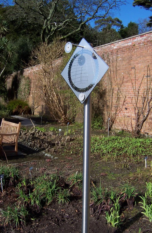 Sundial at Logan Botanic Garden