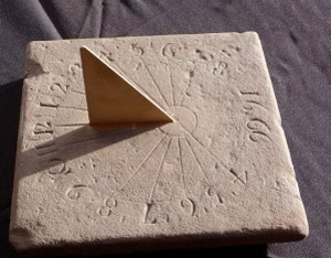 The Duncraggan Stone restored as a sundial with new gnomon