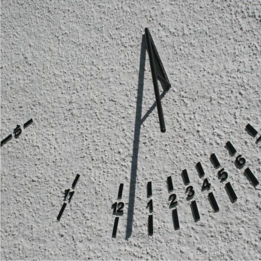 A sundial commission for a house wall