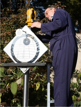 Installing a vertical sundial