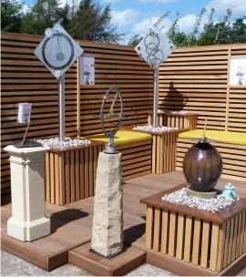 Sundials stand at Damhead Nursery