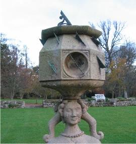 Sundial lady at Lennoxlove, East Lothian