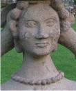 Lennoxlove lady carved in stone