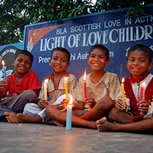 Lighting Candles in India - opens in a new window