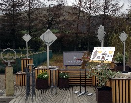 Sundials display at Damhead Nursery near Edinburgh for 2016 season