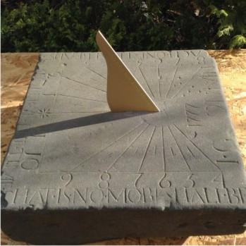 Stone sundial restoration