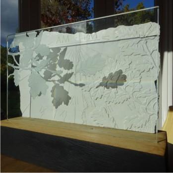 Oak leaf sundial