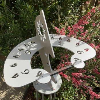 Dihelion dual sundial in silver