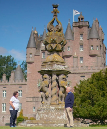 Secret Scotland with Susan Calman at Glamis Castle sundial