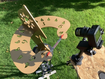 Time lapse on precision of a sundial