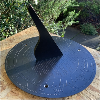 New sundial for the cast iron pedestal found at Lews Castle, Stornoway